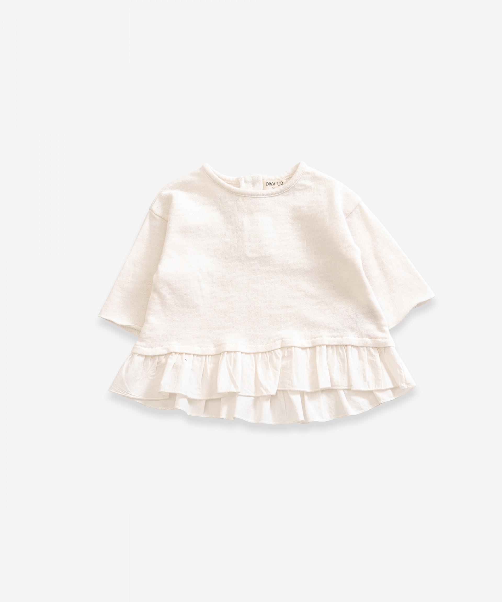 Jersey de algodón orgánico con volante | Weaving