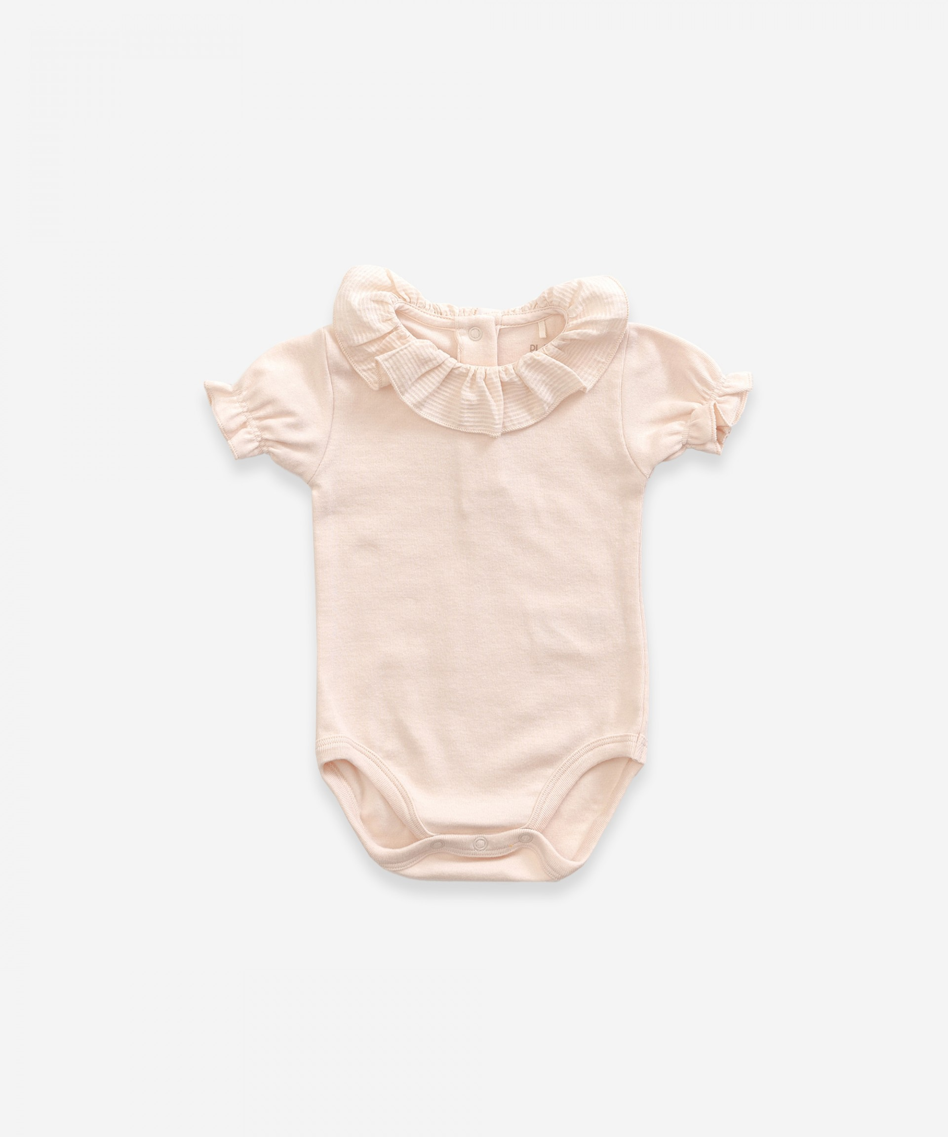 Body with frill in organic cotton | Weaving