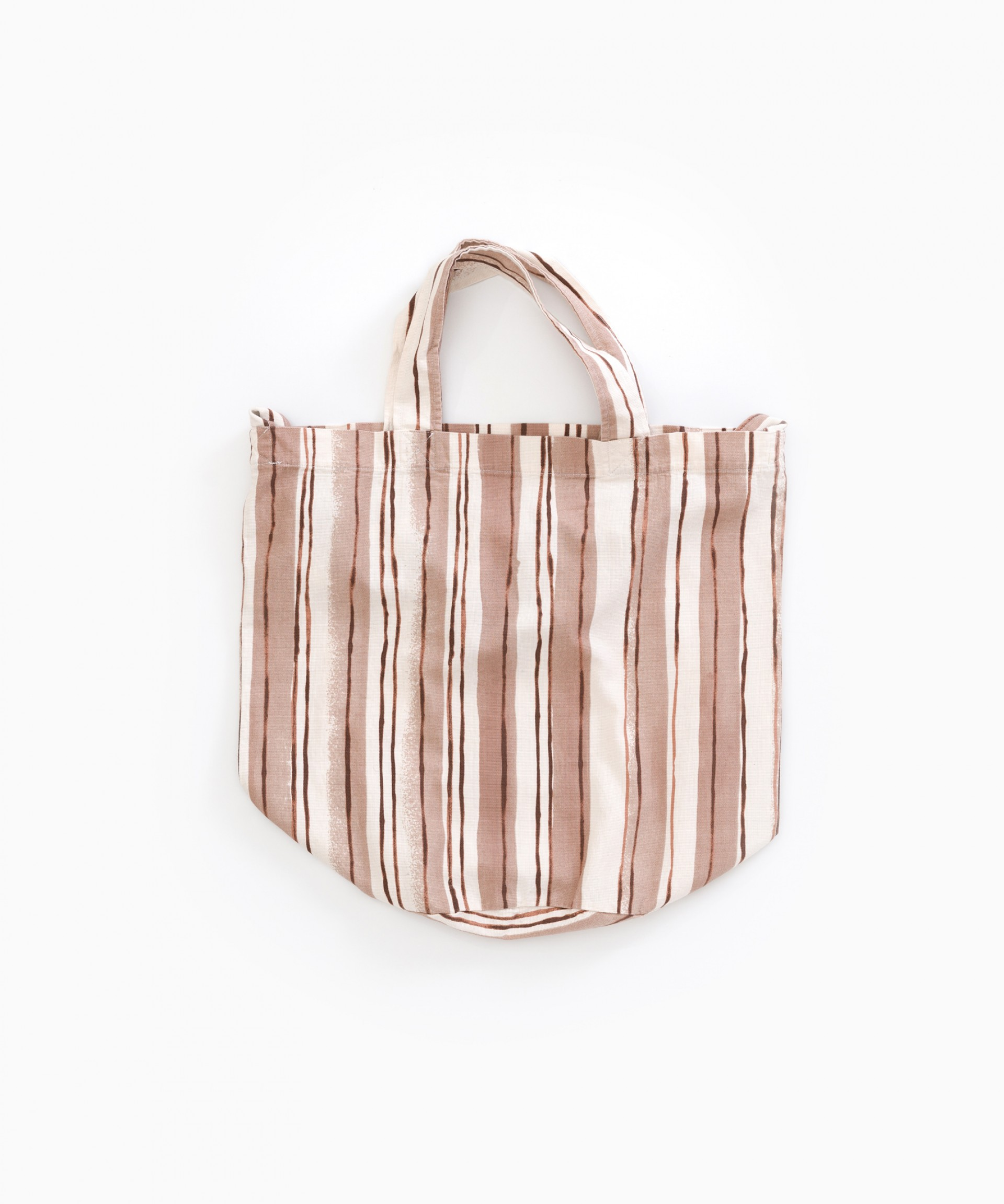 Twill bag with stripes | Weaving