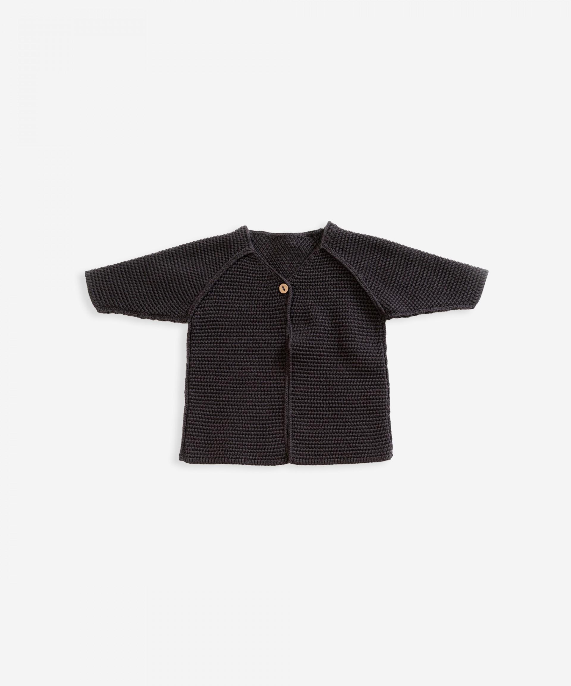 Casaco tricot em algodão orgânico | Weaving