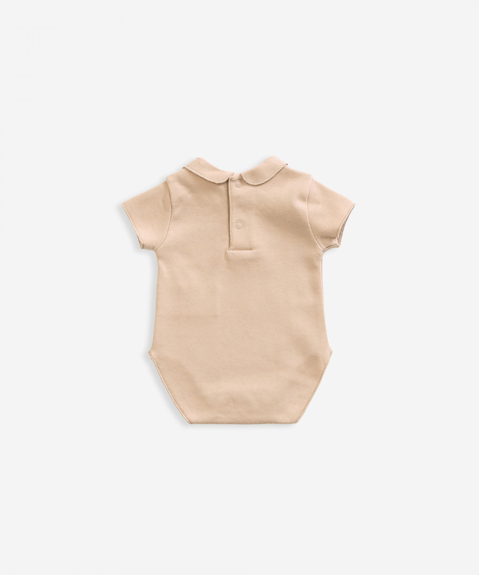 Body in organic cotton with collar | Weaving