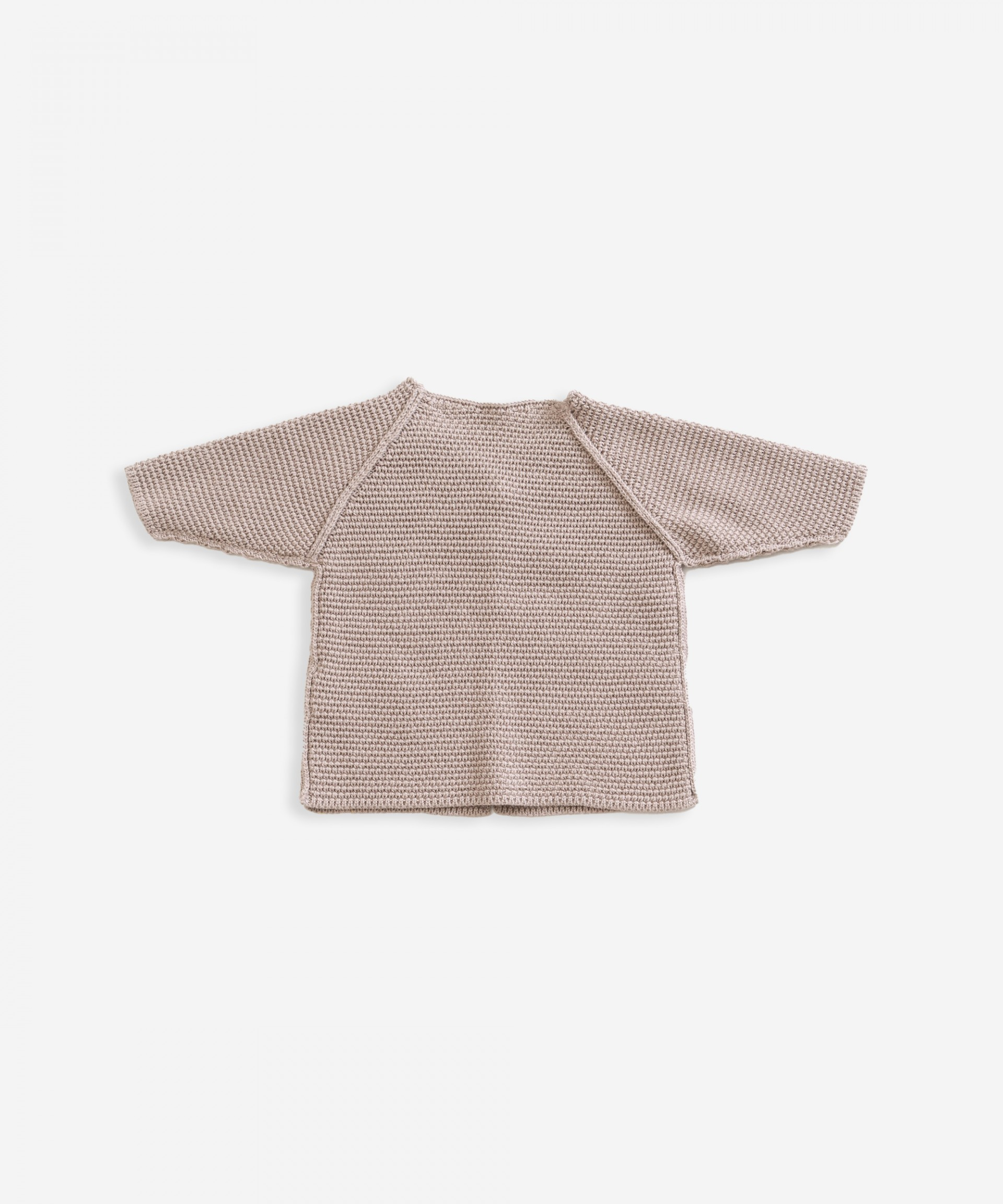Knitted jacket in organic cotton | Weaving