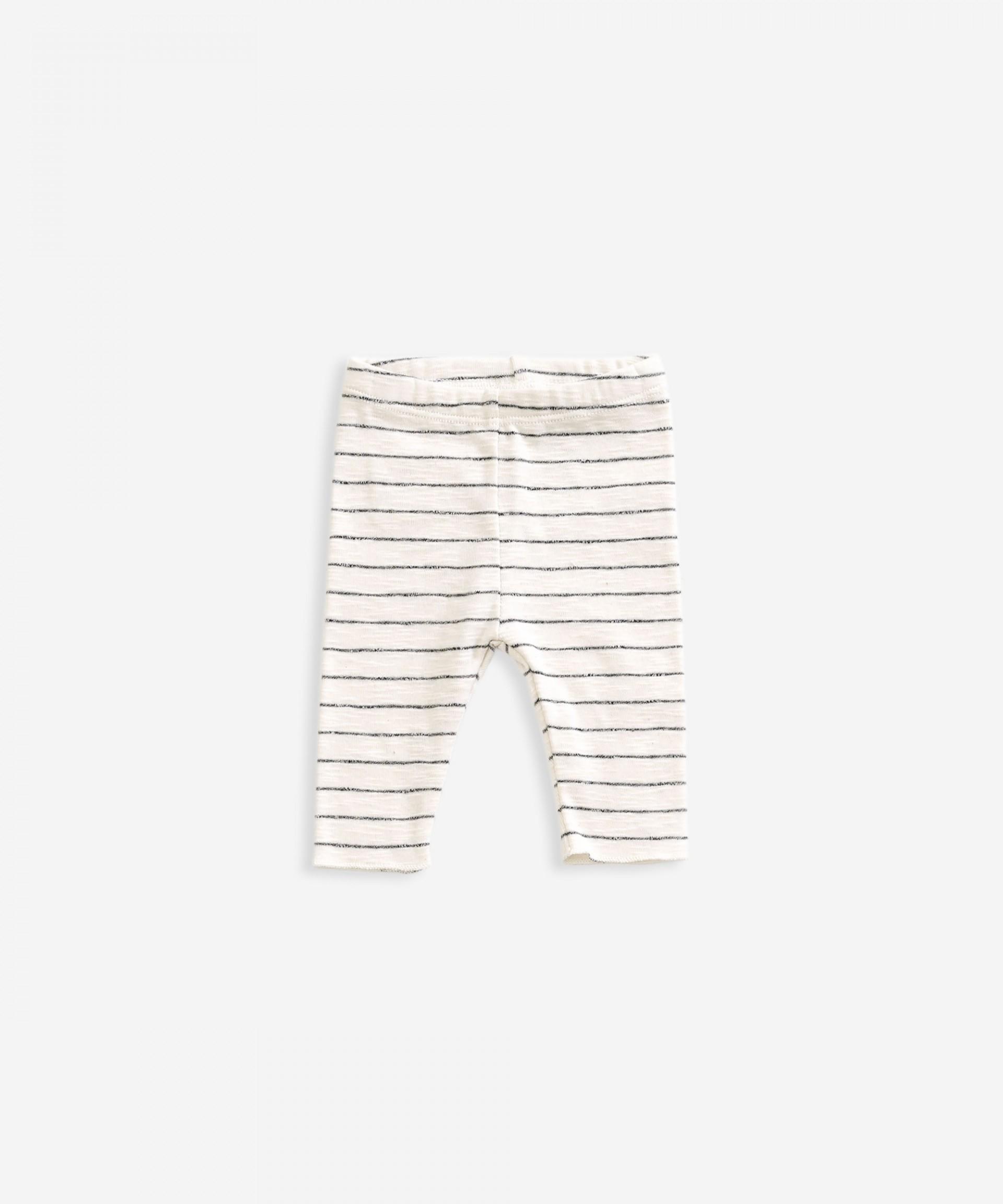 Legging em algodão orgânico com riscas | Weaving