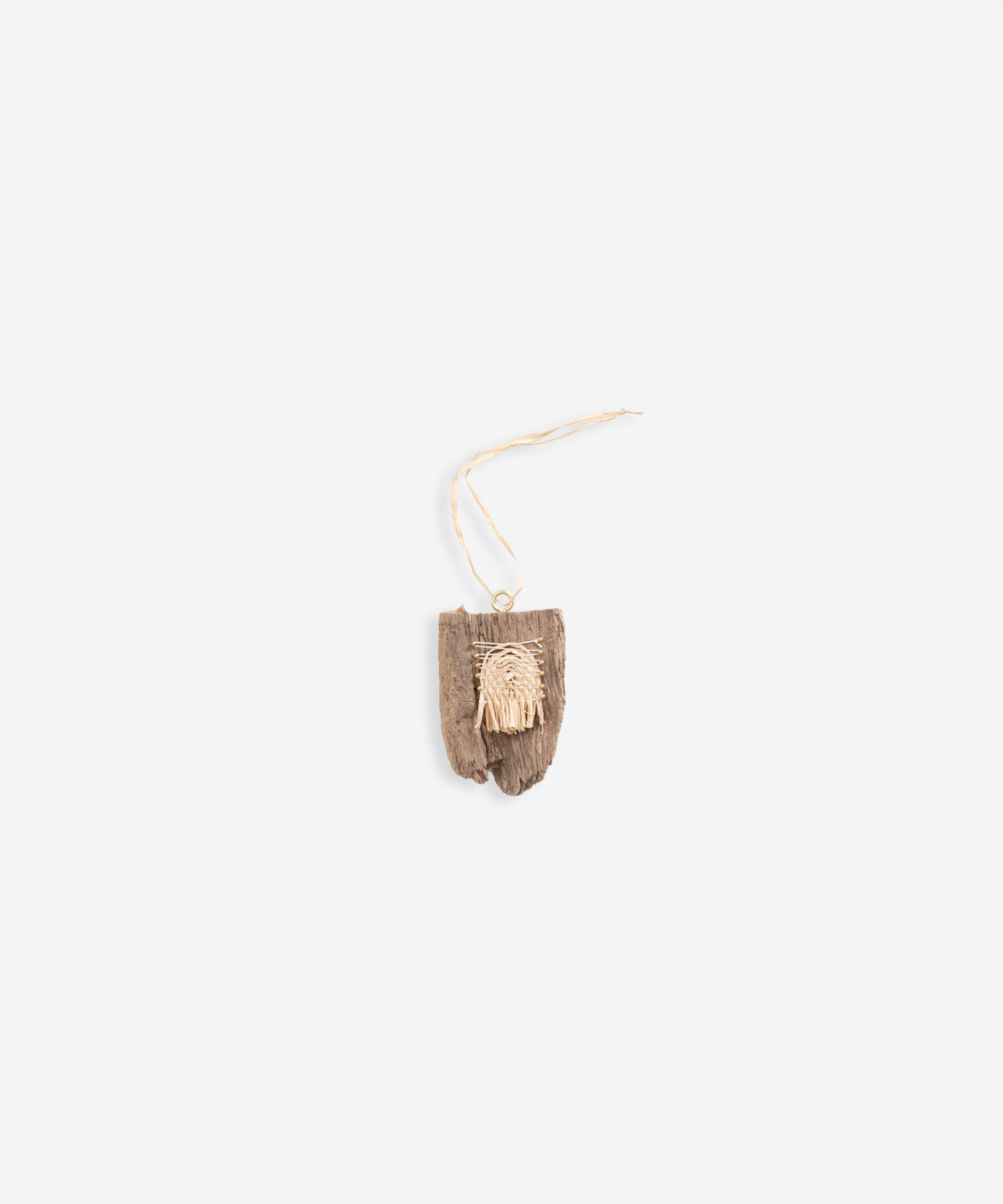 Wooden pendent | Weaving