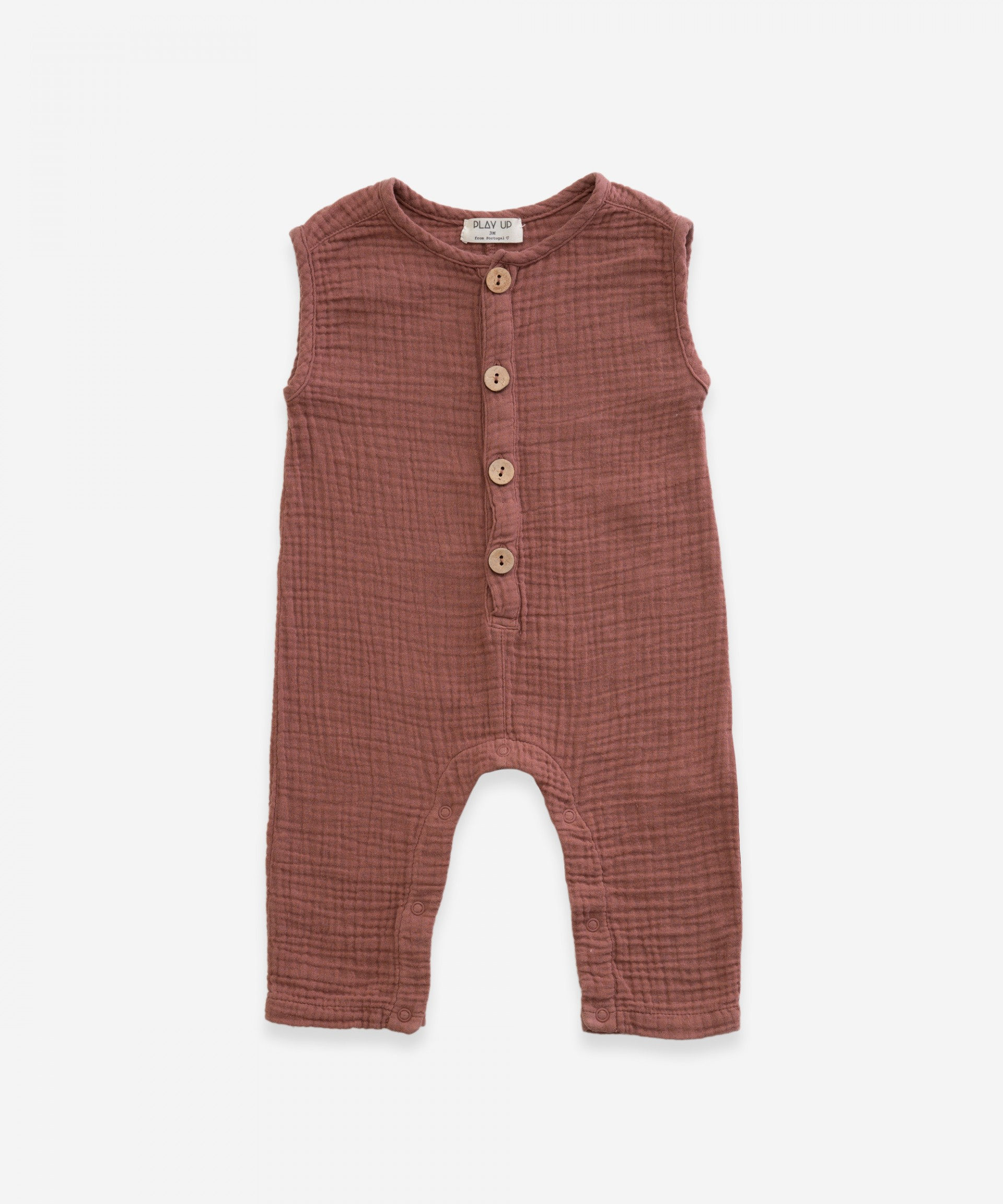 Jumpsuit with front opening | Weaving