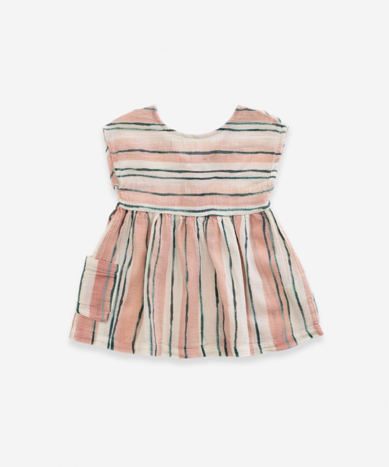 Dress with striped print