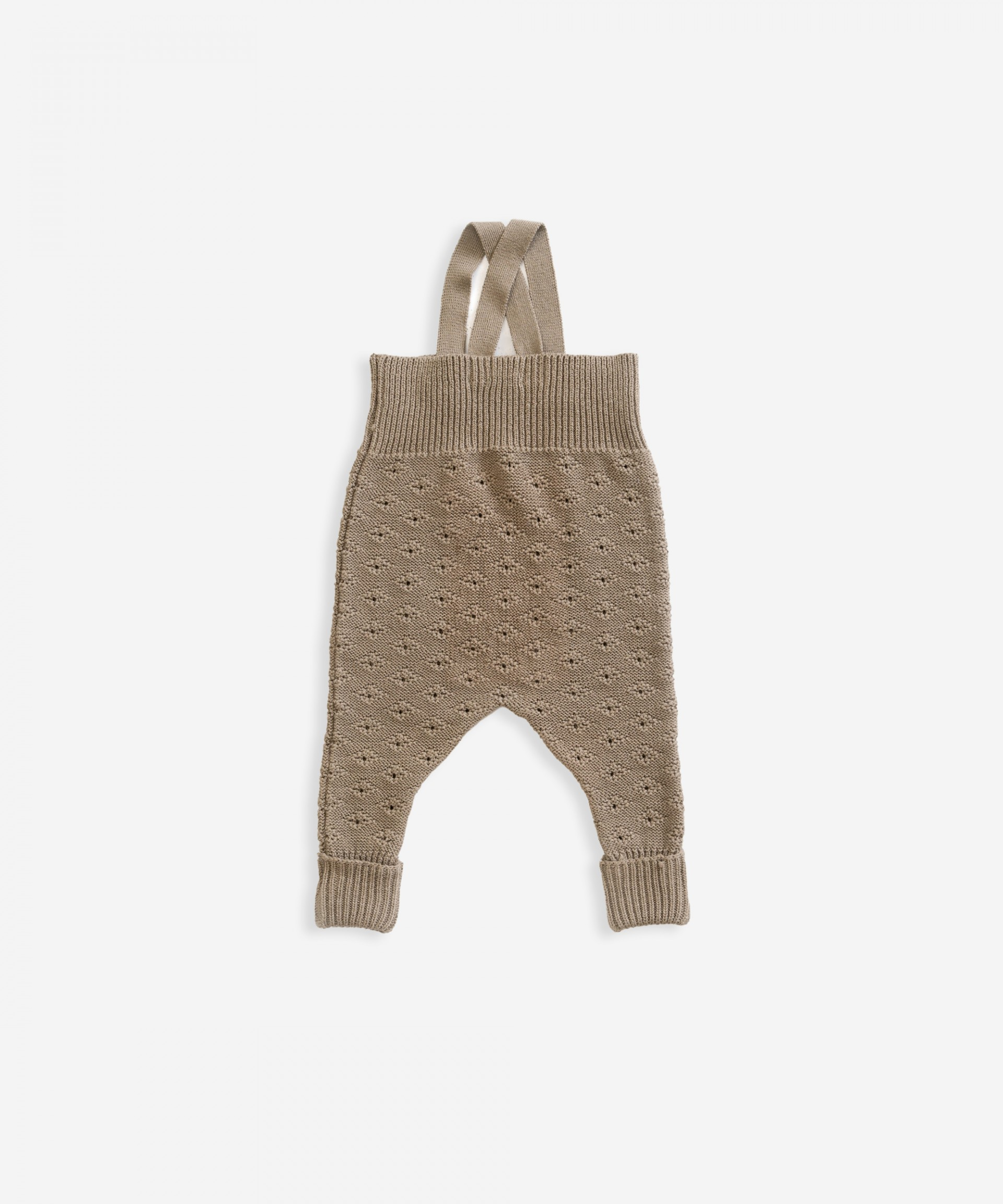 Knitted jumpsuit in organic cotton | Weaving
