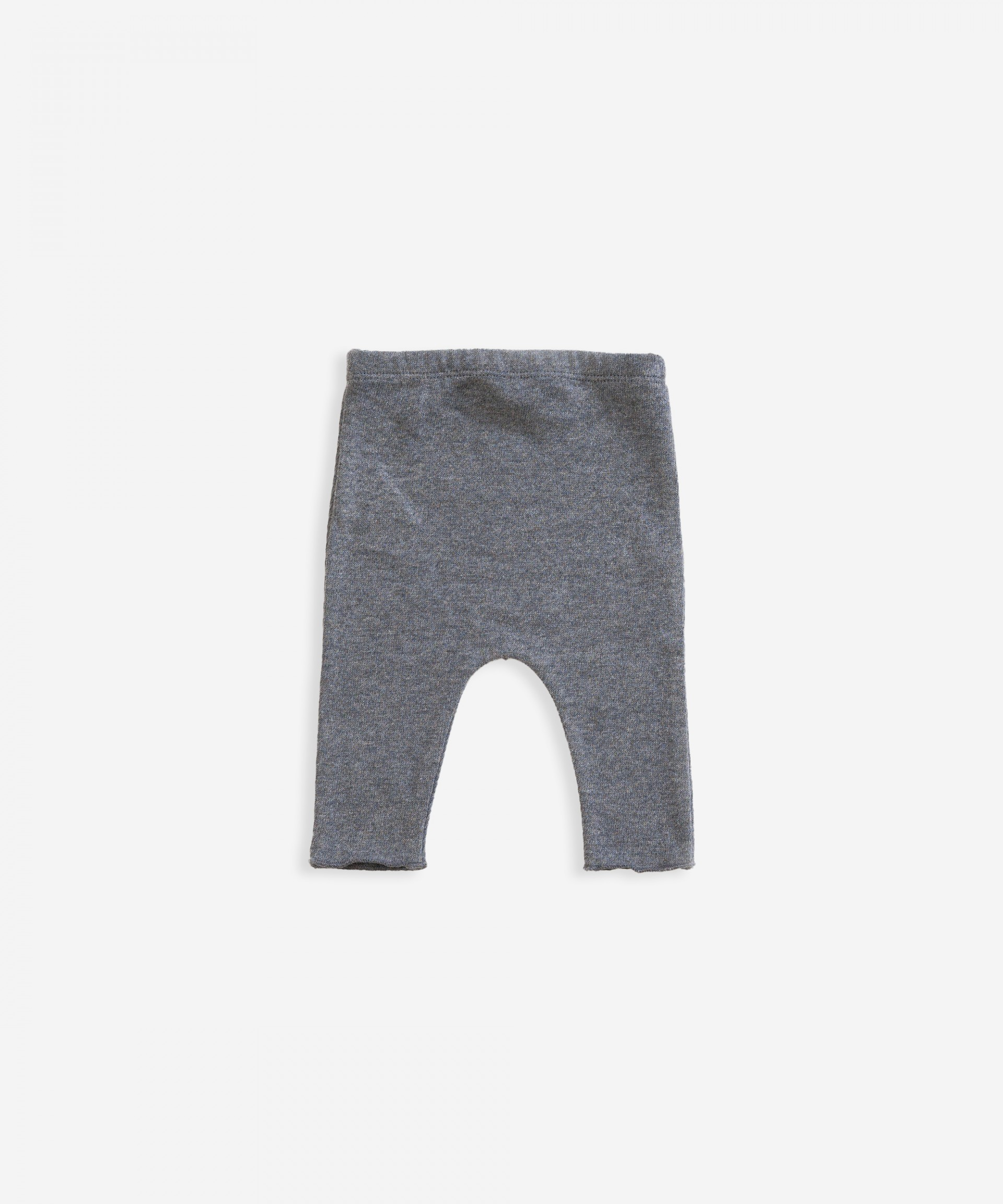 Cotton trousers with decorative button | Weaving