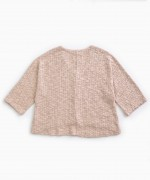 Sweater with wooden buttons | Weaving