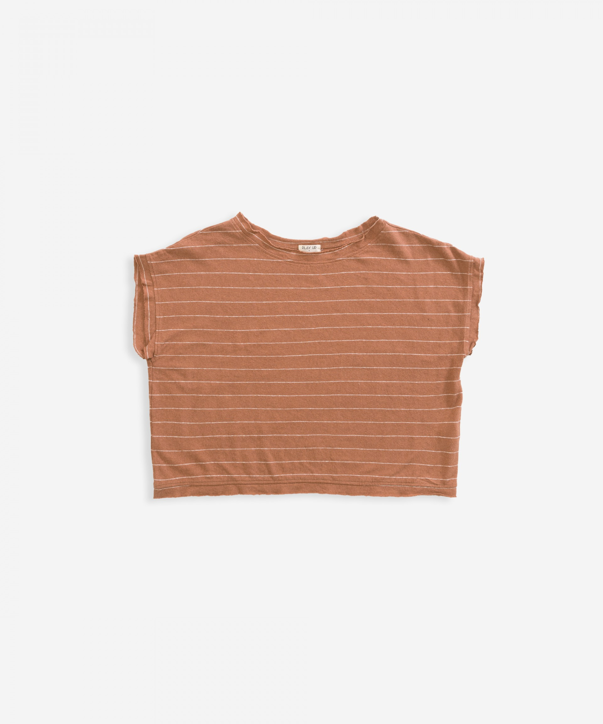T-shirt in cotton-linen | Weaving