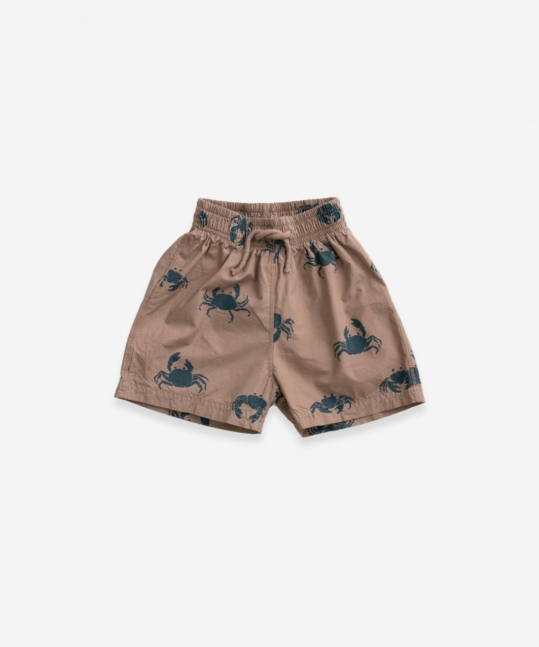 Cotton swimming shorts