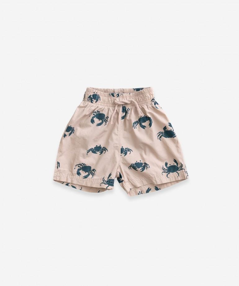 Cotton swimming shorts