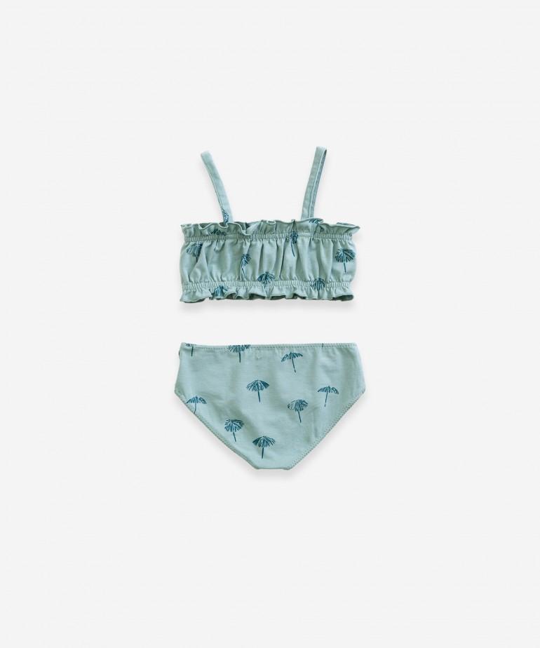 Bikini with parasol print