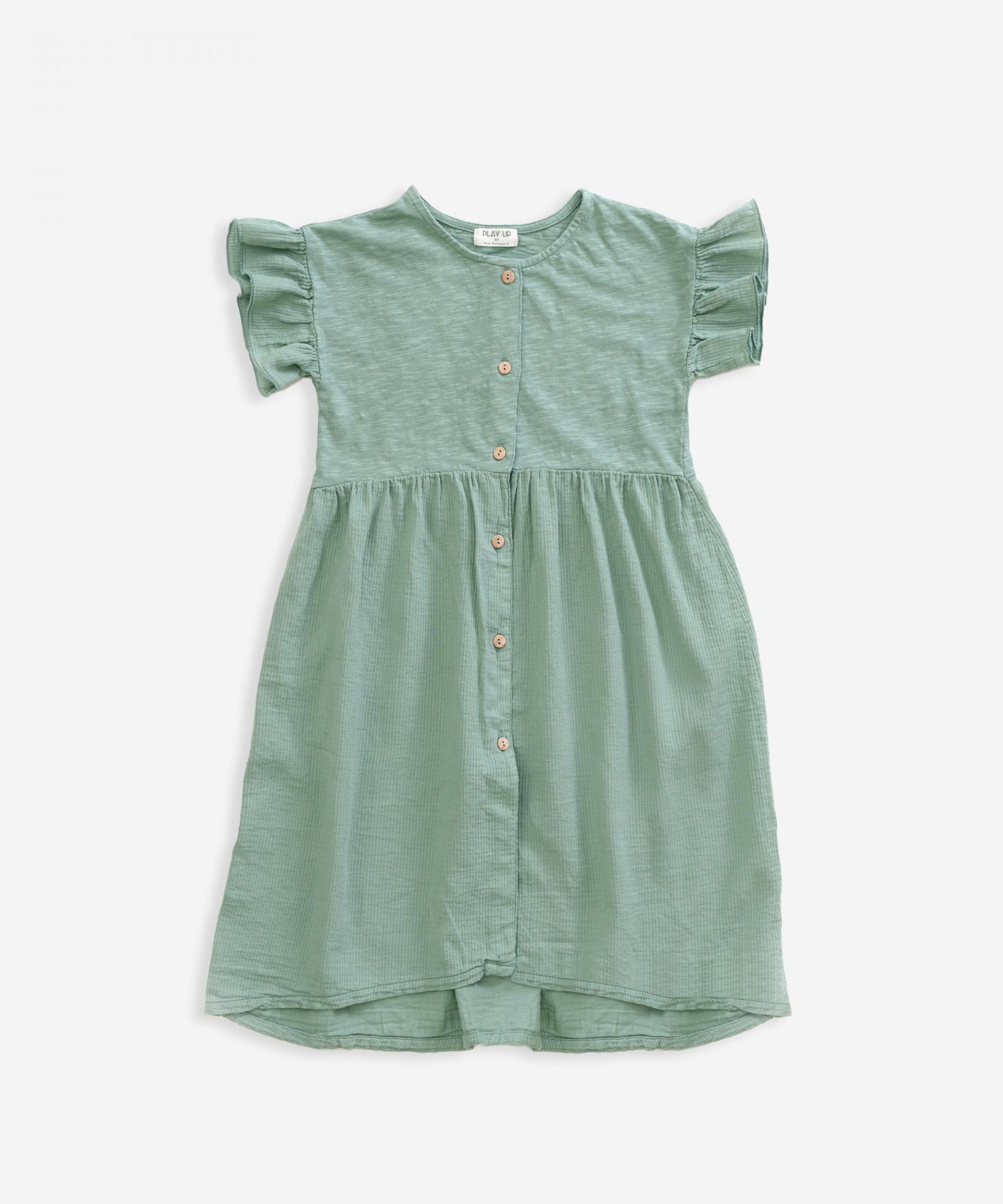 Dress in organic cotton | Weaving