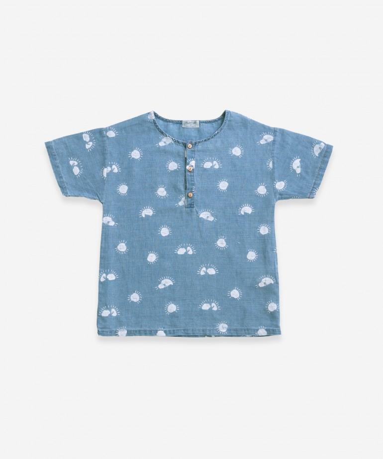 Shirt with sun print