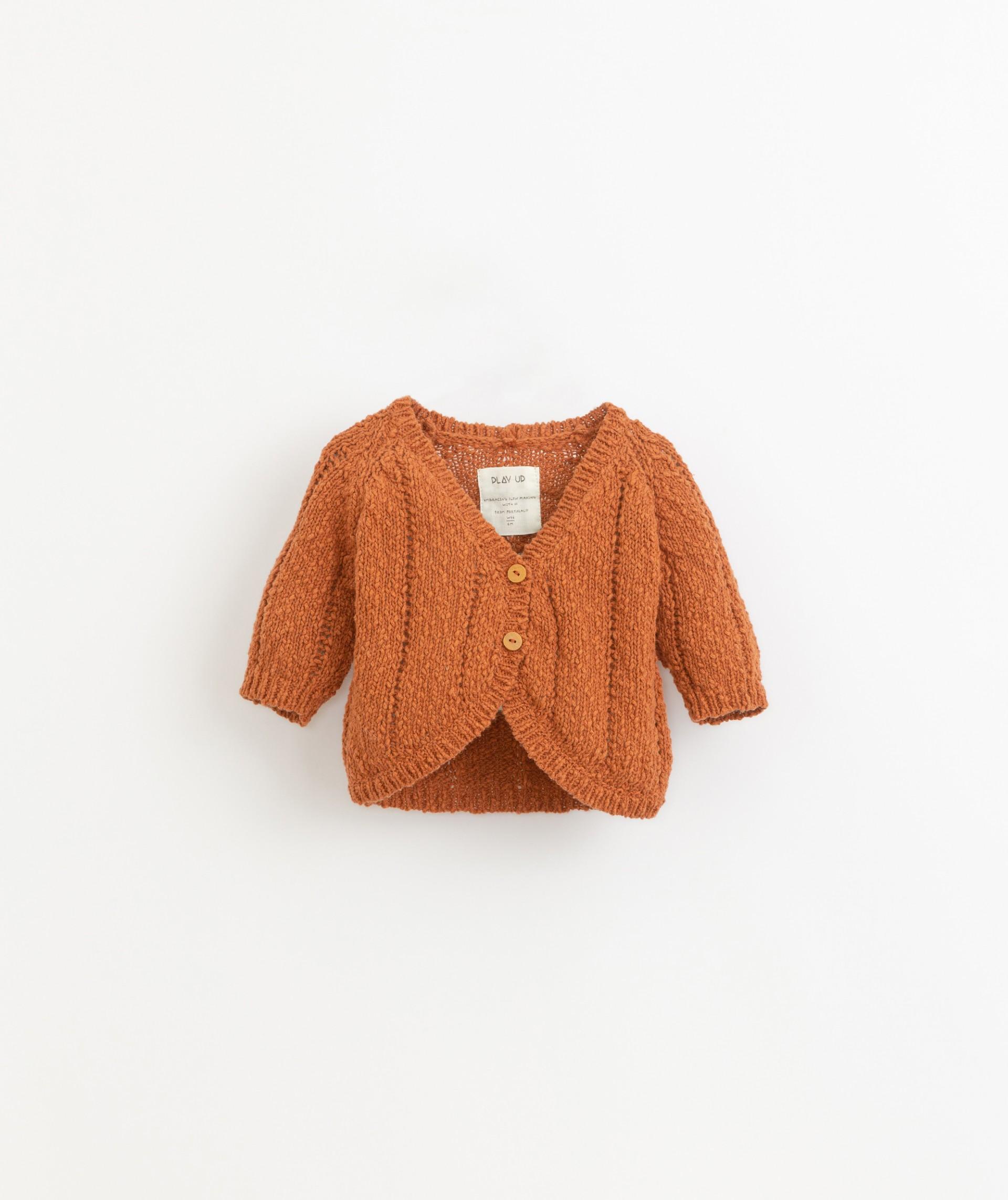 Casaco tricot em algodão e linho | Botany