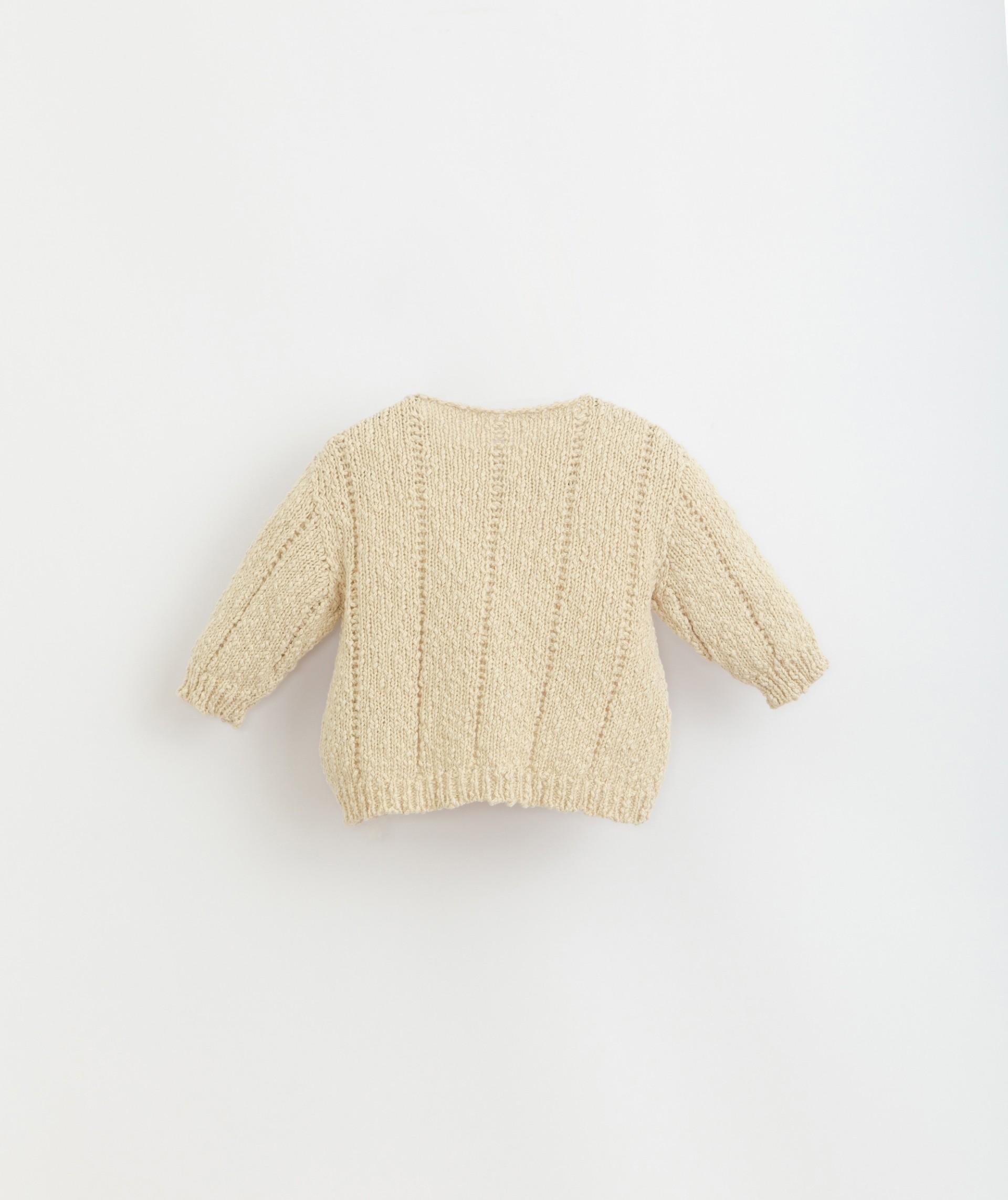 Camisola tricot em algodão e linho | Botany