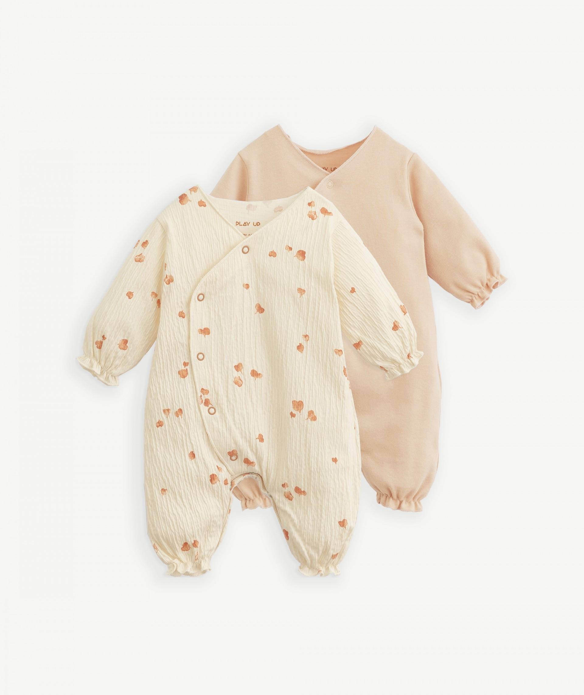 Conjunto 2 babygrows em algodão orgânico   Botany