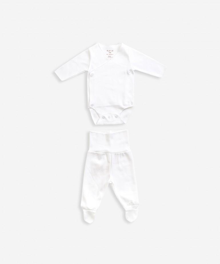 Completo in maglina, body e pantaloni