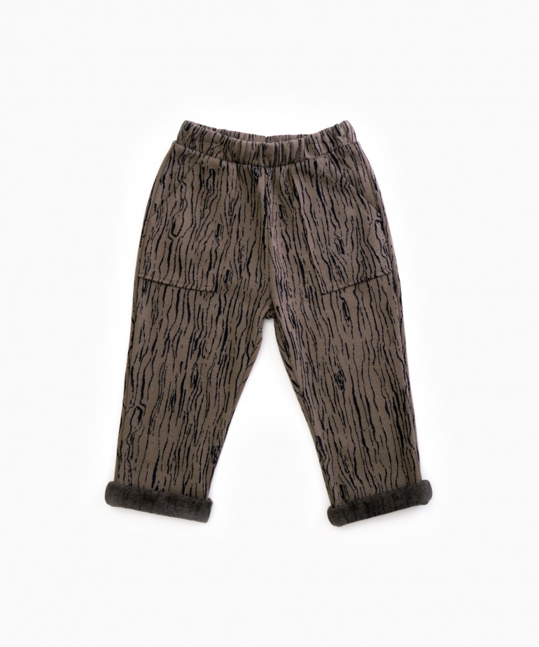 Jersey stitch trousers with pattern