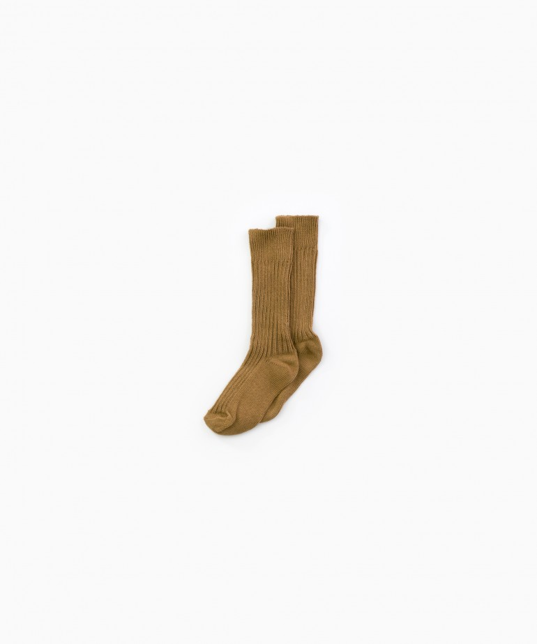 Long socks in organic cotton