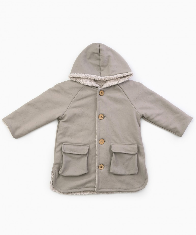Waterproof jacket with furry lining