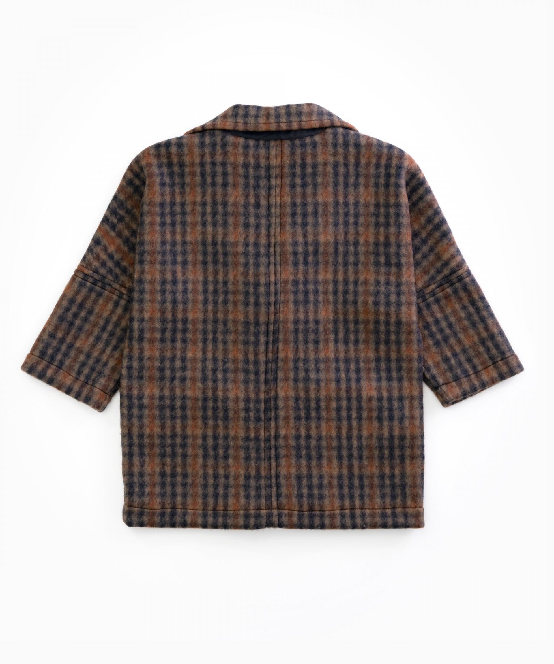 Chequered jacket with recycled fibres | Woodwork