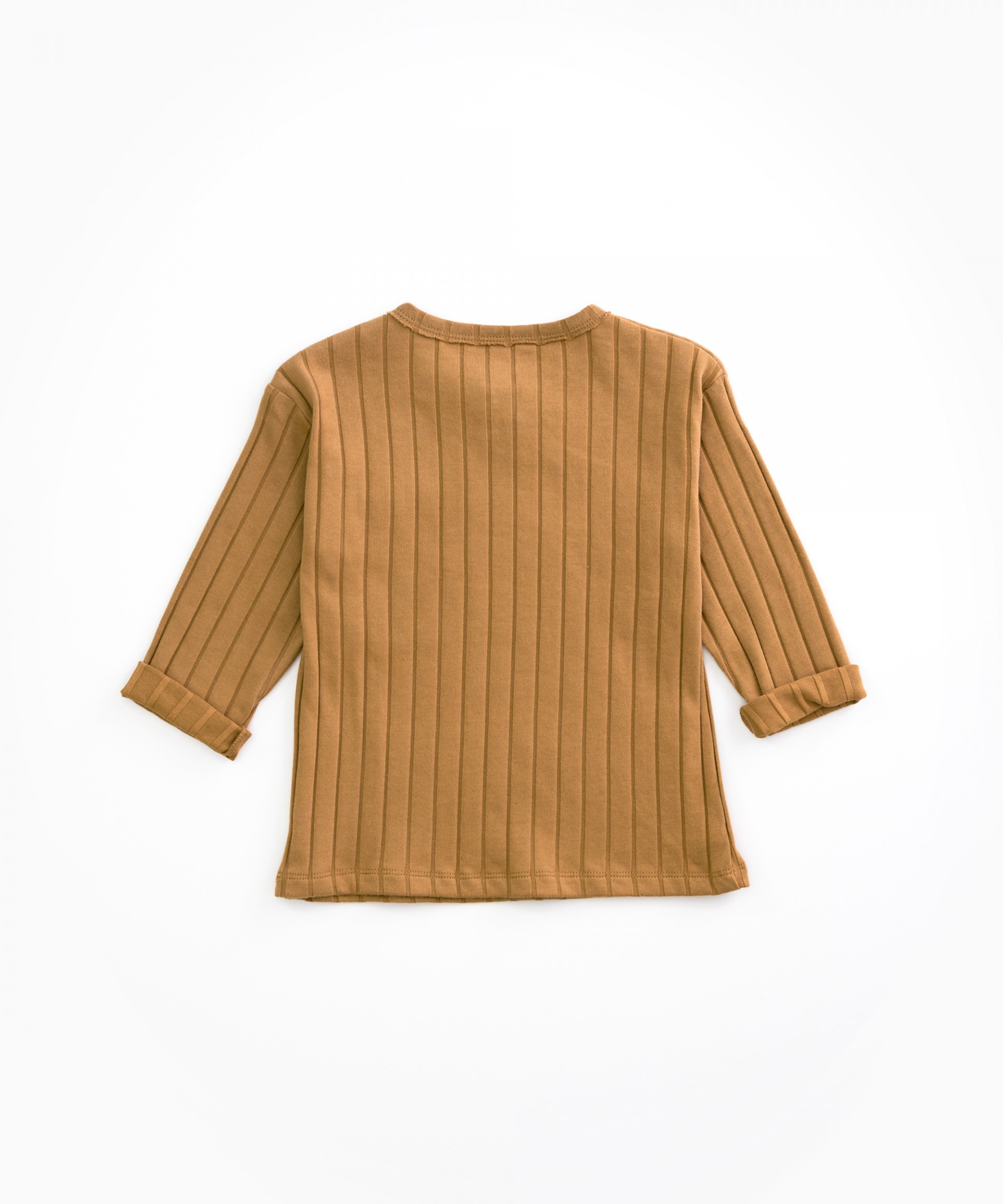 T-shirt in organic cotton with ribbing | Woodwork