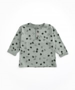 T-shirt in organic cotton with opening | Woodwork