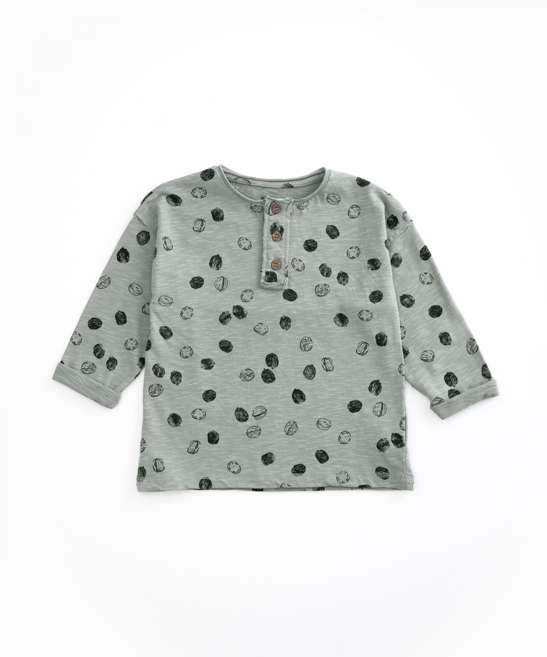 T-shirt em algodão orgânico com abertura | Woodwork
