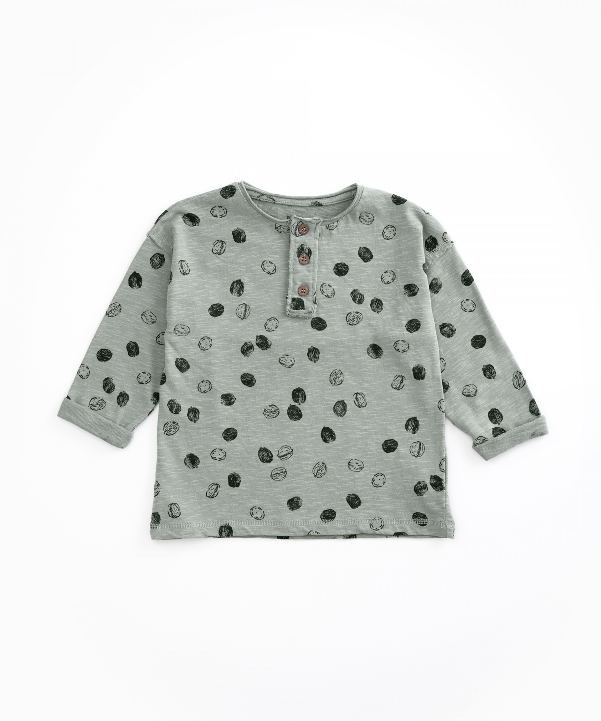 Camiseta de algodón orgánico con abertura | Woodwork