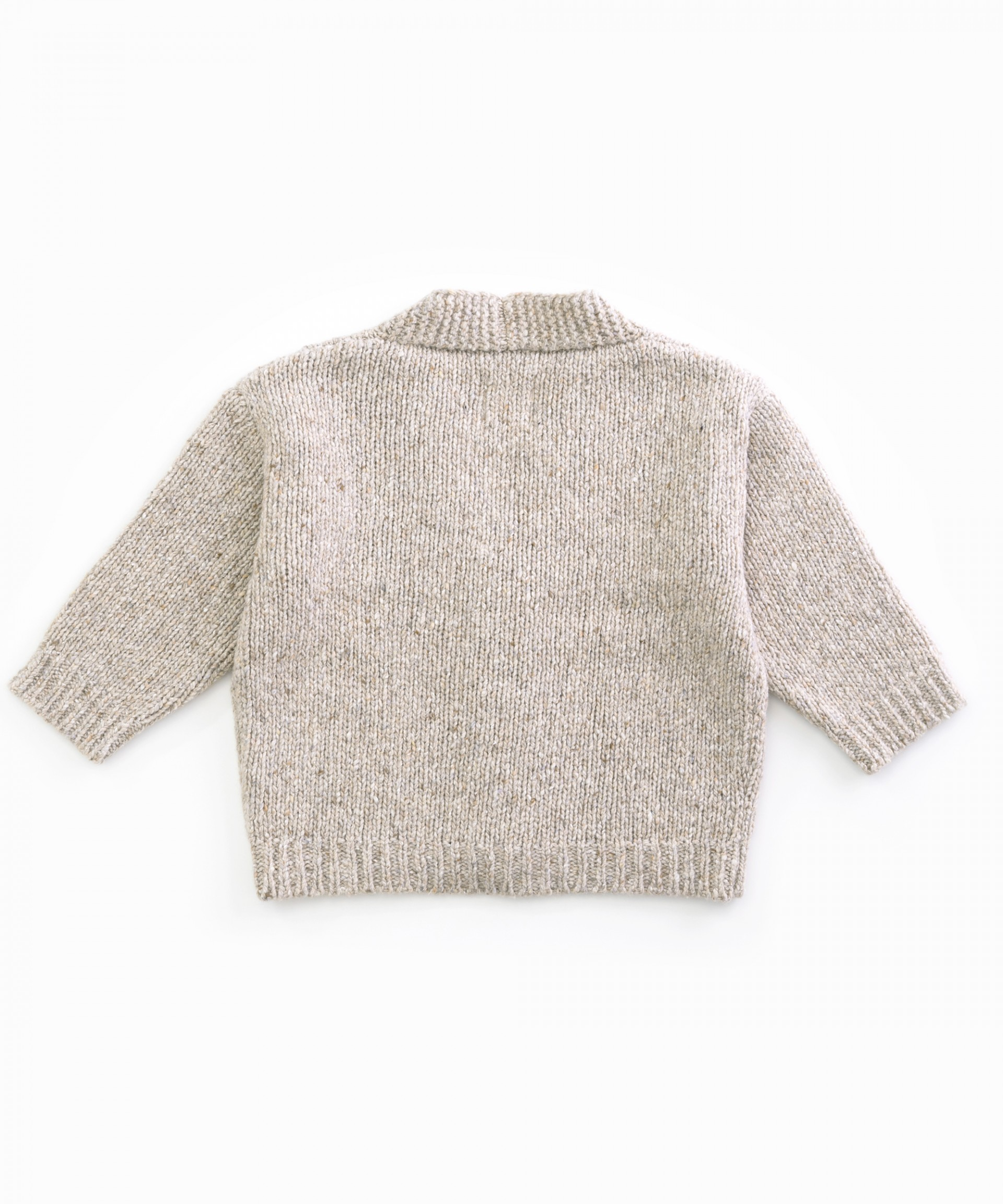 Knitted cardigan with recycled fibres | Woodwork