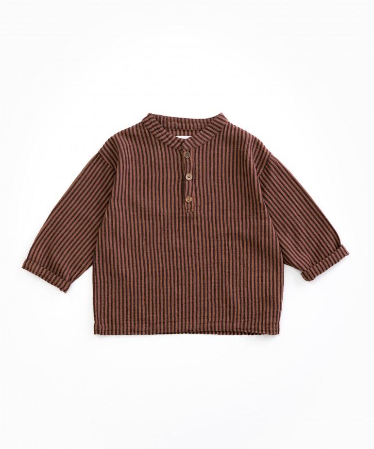 Striped cloth shirt