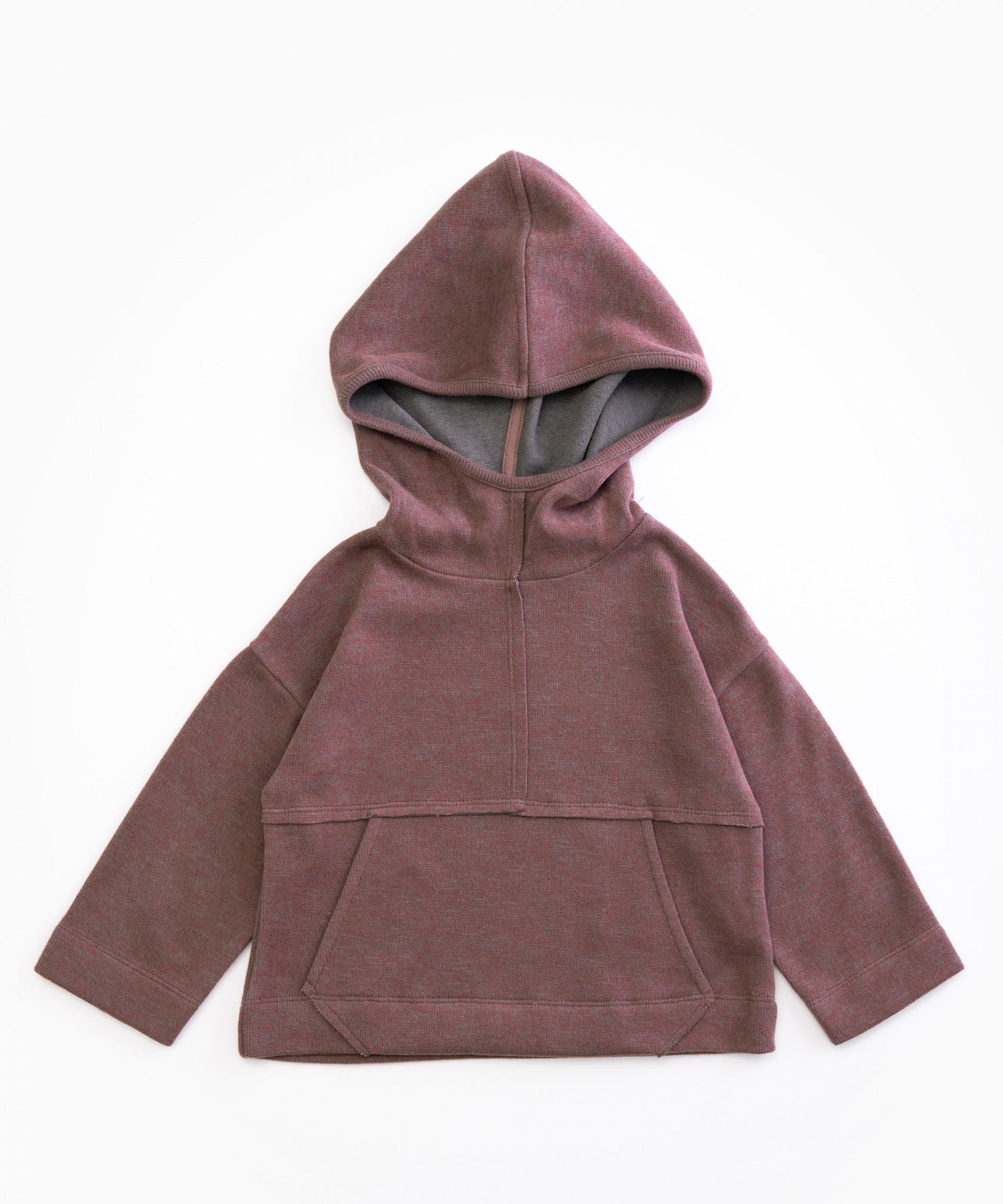 Camisola em algodão com capucho | Woodwork