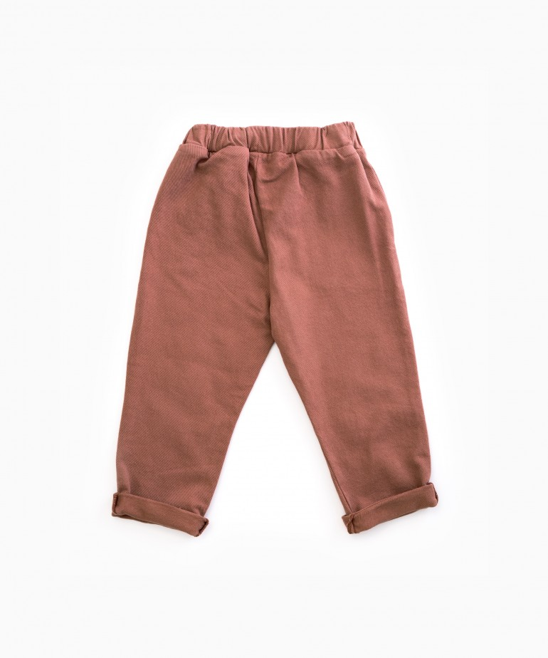 Serge trousers with pockets