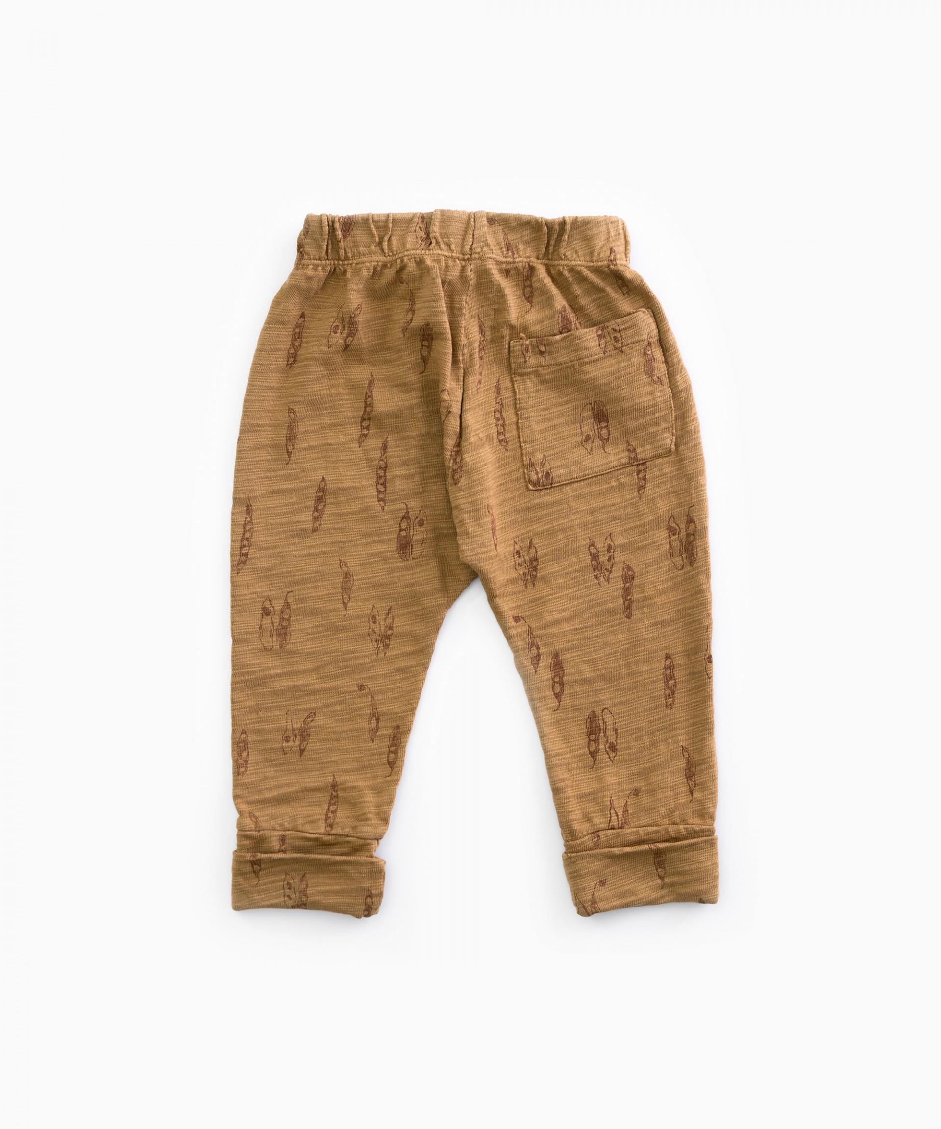 Pantalón de punto con estampado | Woodwork