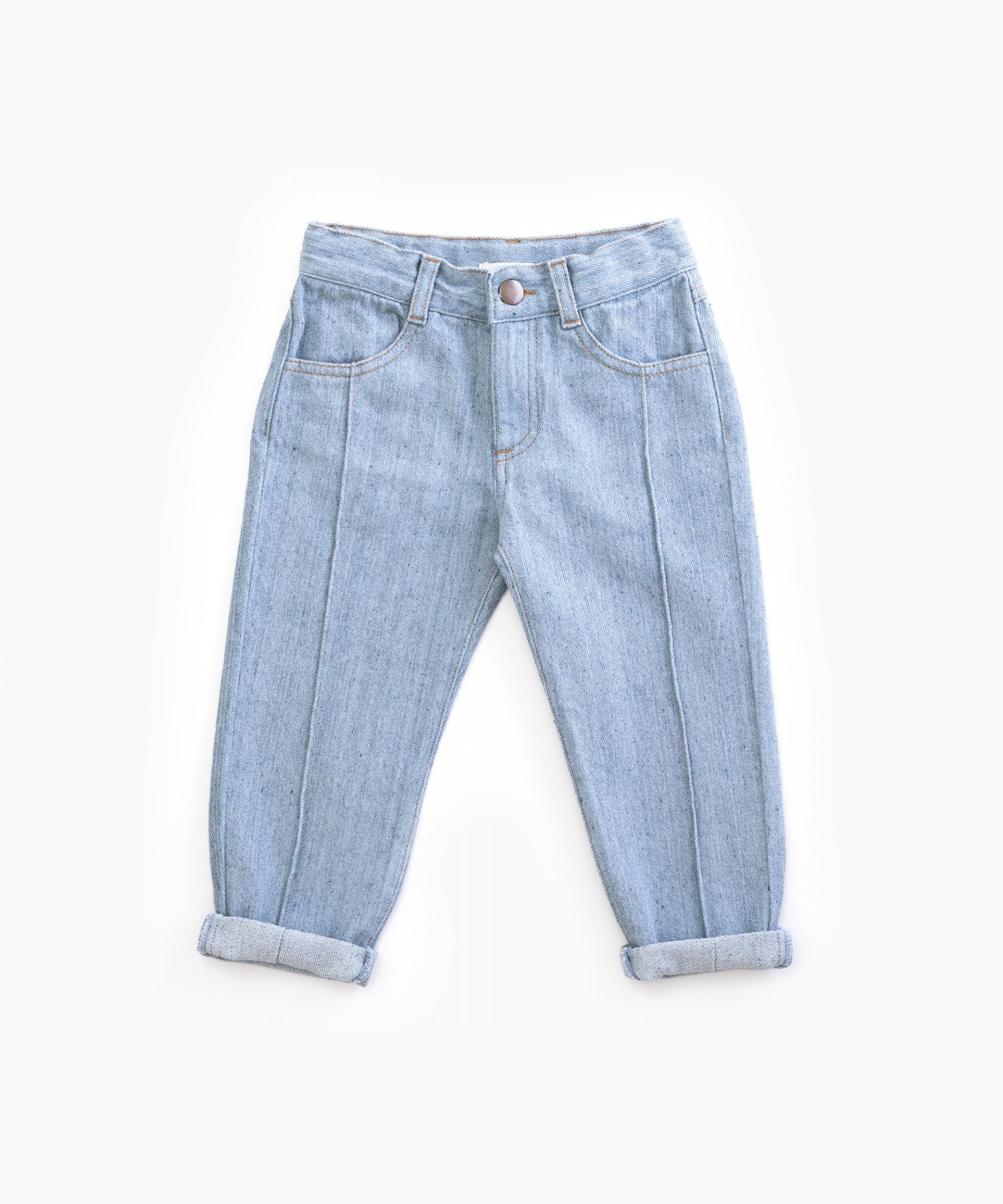 Denim trousers with ribbing | Woodwork