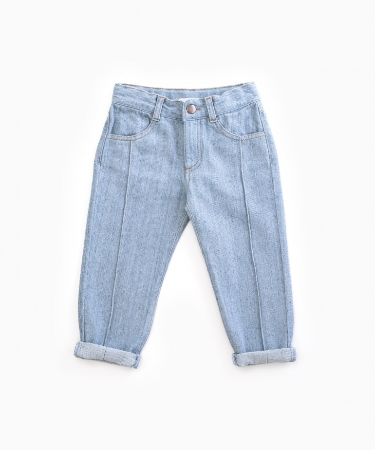 Denim trousers in recycled cotton