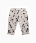 Trousers with spoons print | Woodwork
