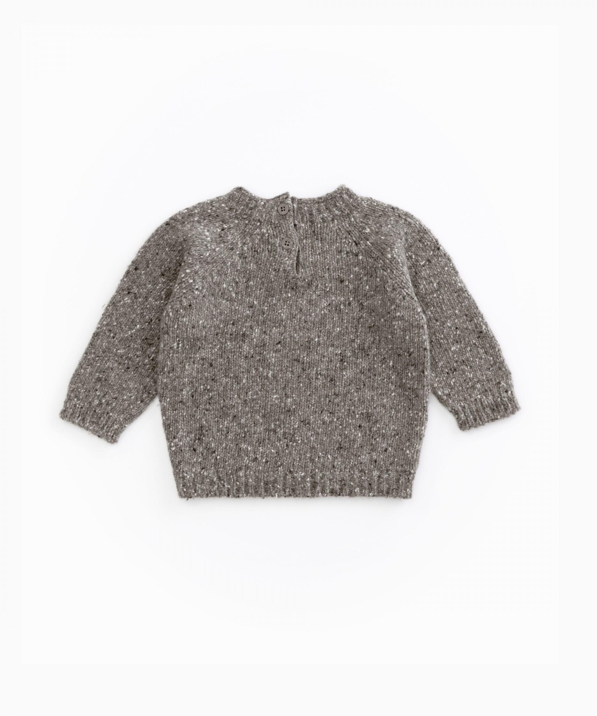 Jersey tricot con botones de coco | Woodwork