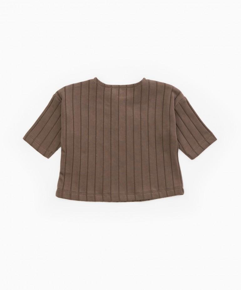 T-Shirt in cotone biologico a costine