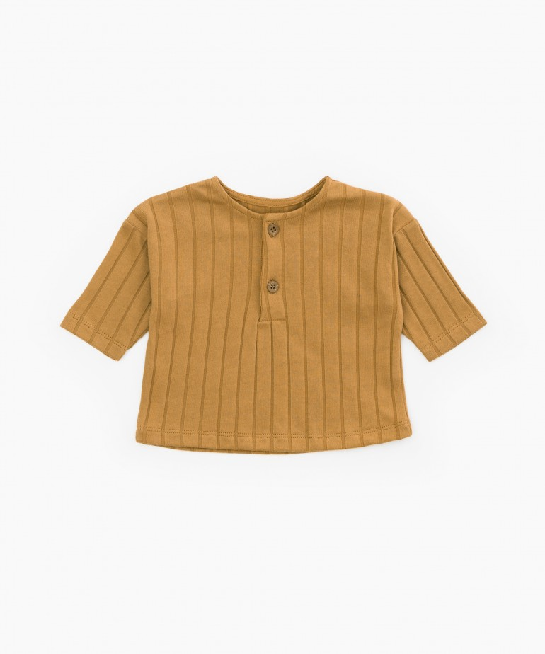 T-shirt in organic cotton with ribbing