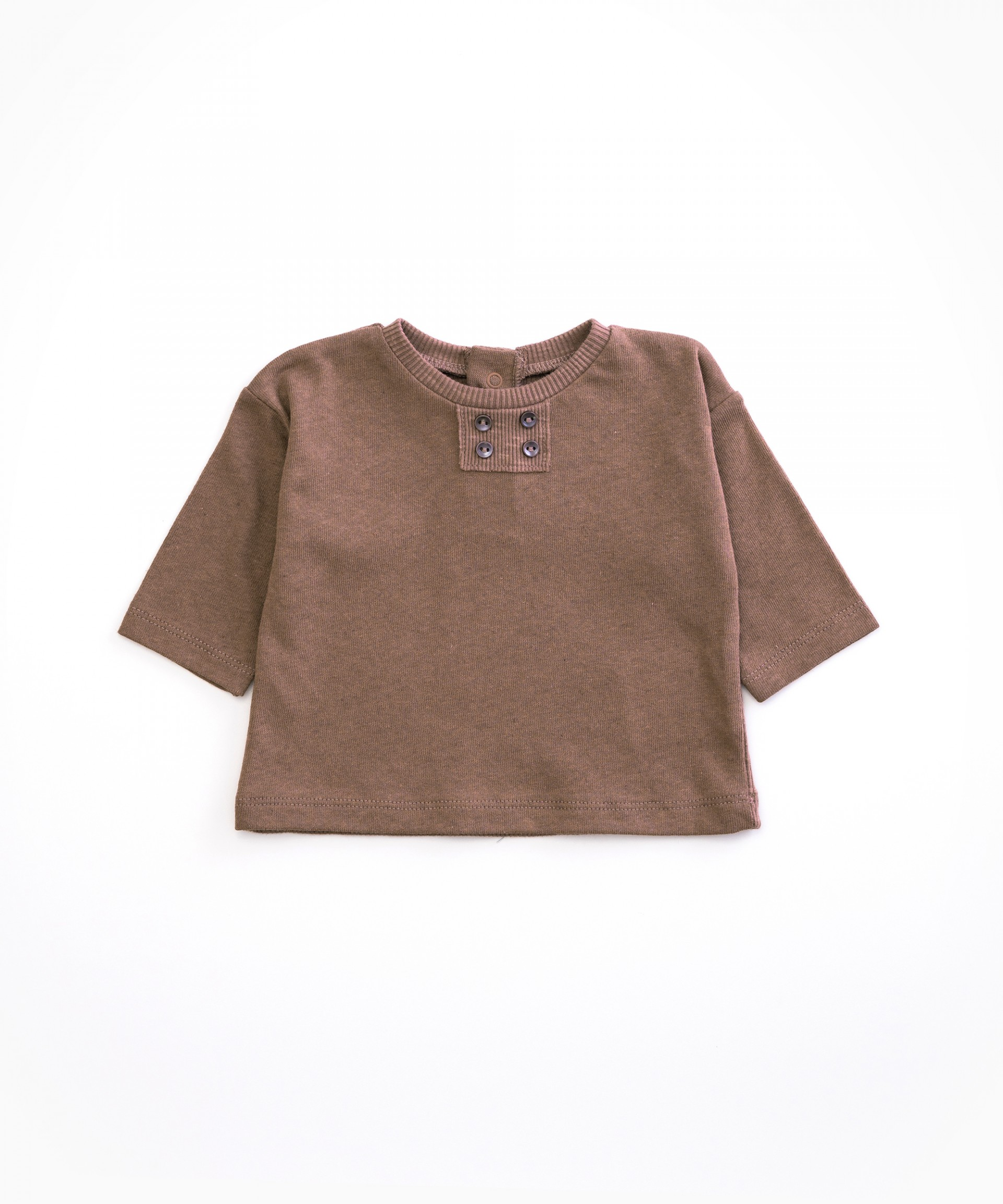 T-shirt in organic cotton and linen | Woodwork