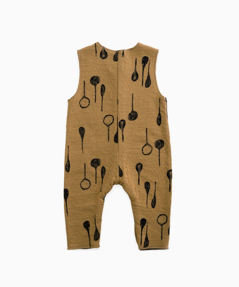 Jumpsuit with spoon print