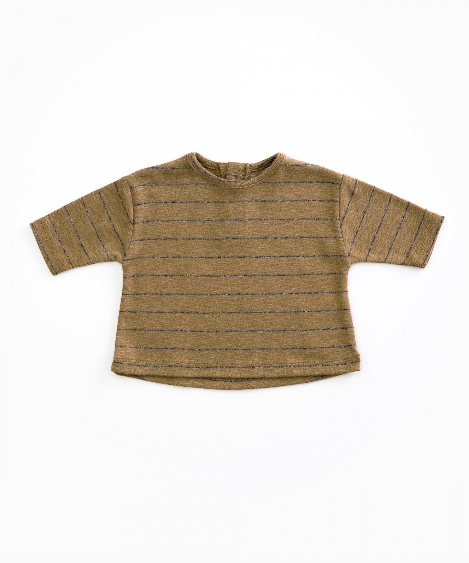 T-Shirt in cotone organico a righe | Woodwork