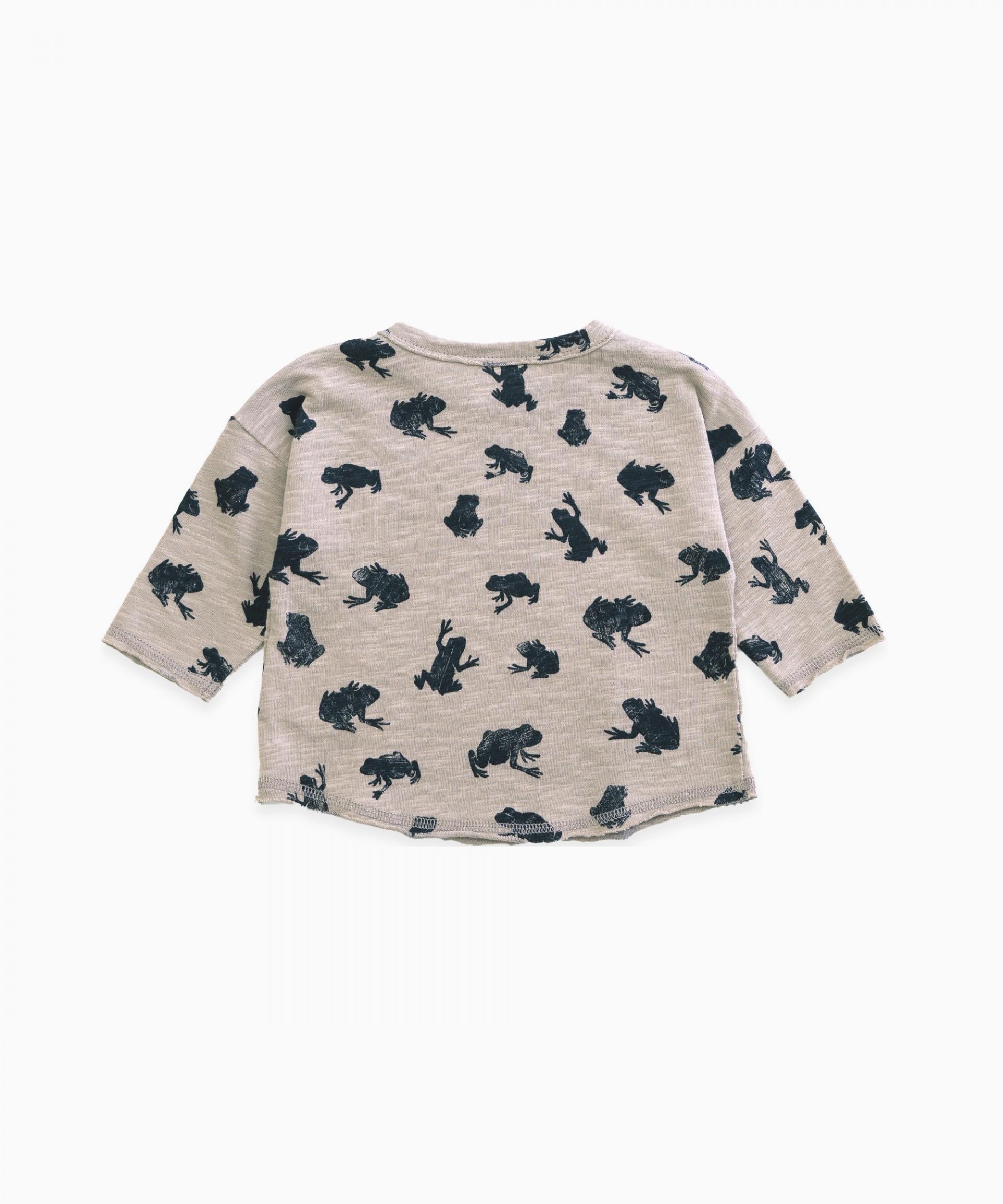 T-Shirt in cotone organico con stampa | Woodwork