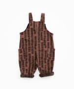 Dungarees with straps and pattern | Woodwork