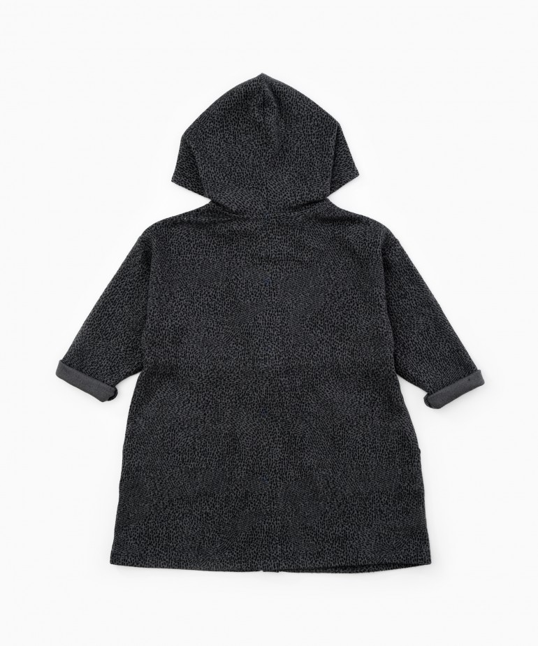 Dress in organic cotton with a hood
