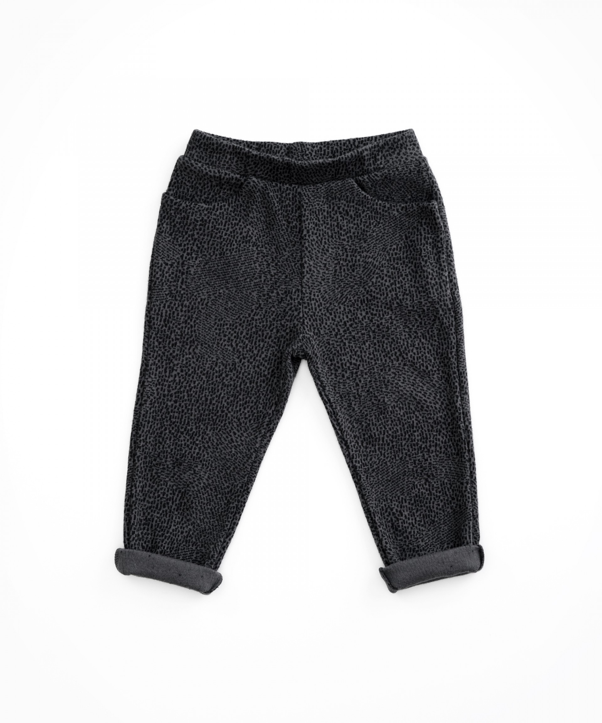 Jersey stitch trousers with pattern | Woodwork