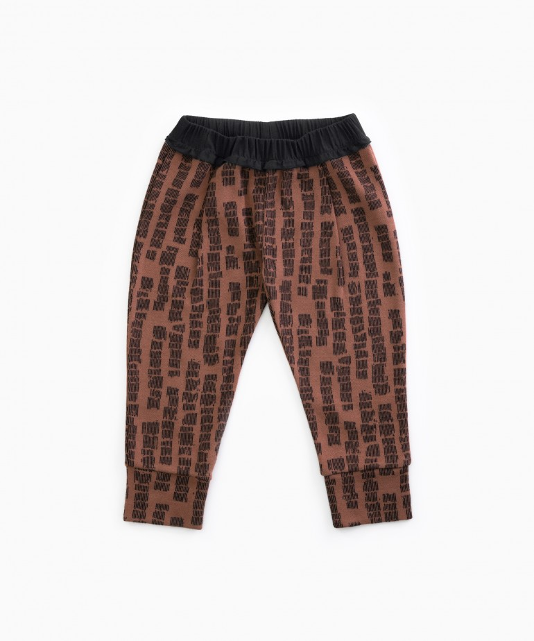 Trousers in organic cotton with pattern